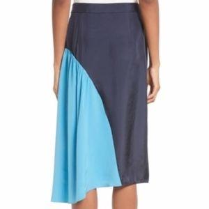 Tibi Skirts - **CLEAROUT PRICE** Tibi Color Block Shirred Skirt